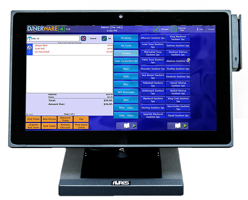Evergreen's gift and loyalty solutions are easily integrated into a point of sale, as shown on a POS terminal screen.